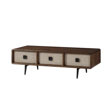 Da Vinci Coffee Table - 6 Drawer / Light Walnut