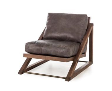 Teddy Chair - Destroyed Black Leather