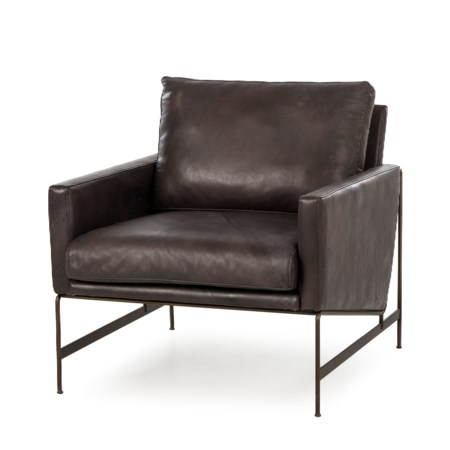Vanessa Chair - Destroyed Black Leather