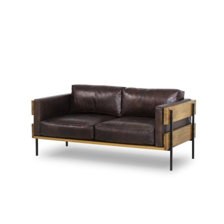 Carson Loveseat - Antique Espresso Leather