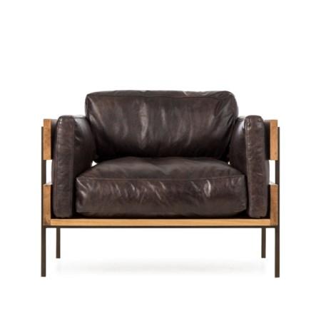 Carson II Chair - Antique Espresso Leather (UK Standard)