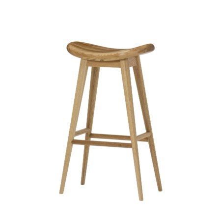 Smith Bar Stool - Natural Oak