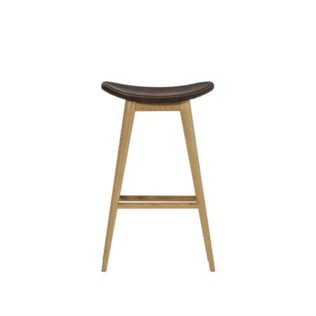 Smith Bar Stool - Antique Espresso Leather / Natural Oak