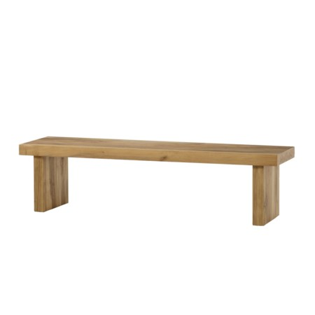 Emelia Bench - Large / Natural Oak without Seat Pad