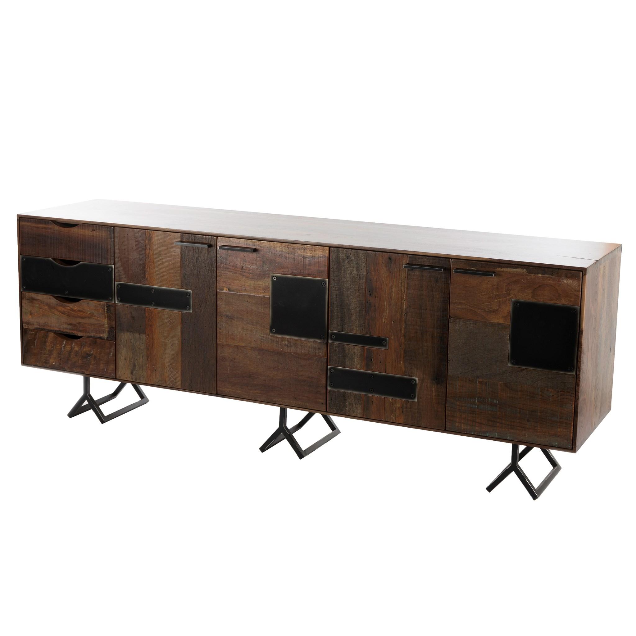 Credenza Dark : Furniture of america tami dark walnut credenza desk