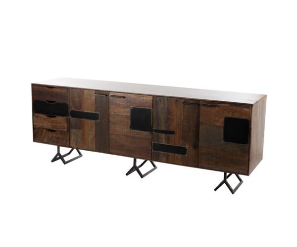 Credenza Dark Brown : Gonzo credenza dark brown console tables resource decor