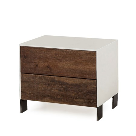 Cardosa Nightstand - 2 Drawer / White