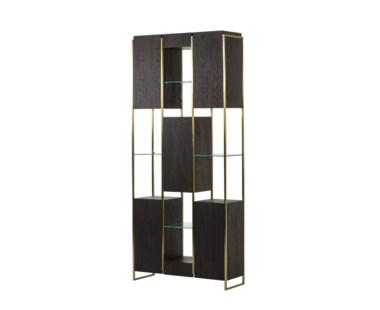Marley Bookcase - Large Dark Oak
