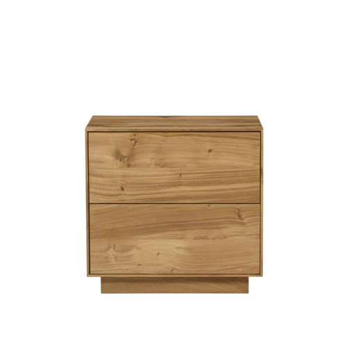 Sands Nightstand - 2 Drawers / Natural Oak