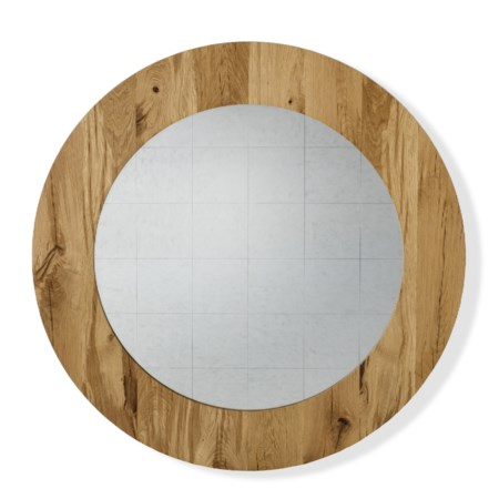 Damon Mirror - Round / Natural Oak