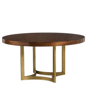 "Ashton Dining Table - 60"" Dia. / Walnut"