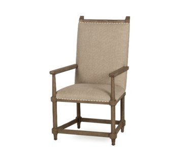 Wine Makers Arm Chair - Textured Linen