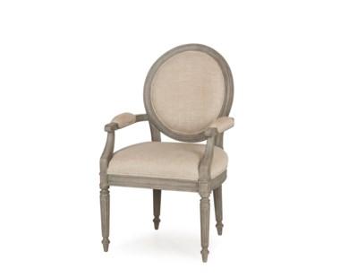 Nichole Arm Chair - Textured Linen