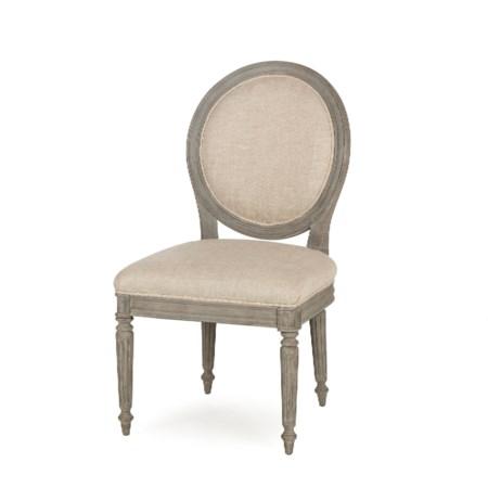 Nichole Side Chair - Textured Linen