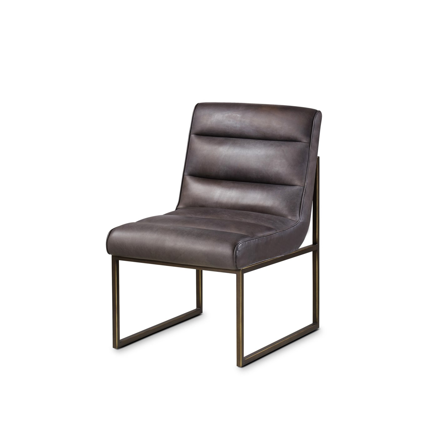 Noah Side Chair Destroyed Black Leather Dining Chairs