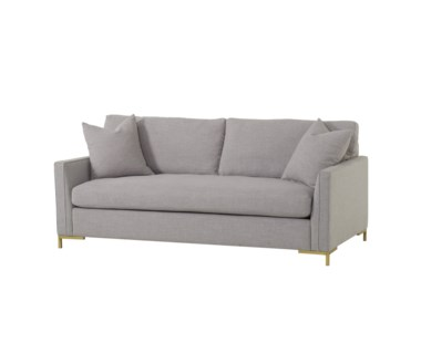 "Ian Loveseat - Tailored 5""Arm/ Leg B Metal Gold"