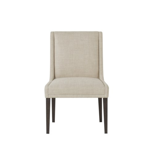 Stacey Dining Chair - Textured Linen Fabric / Wright Finish