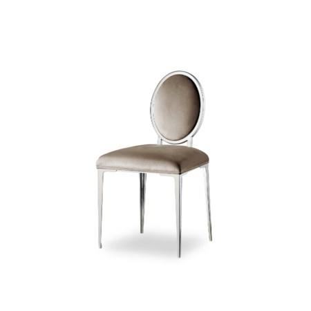 Chloe Dark Vanity Chair - Vadit Chocolate