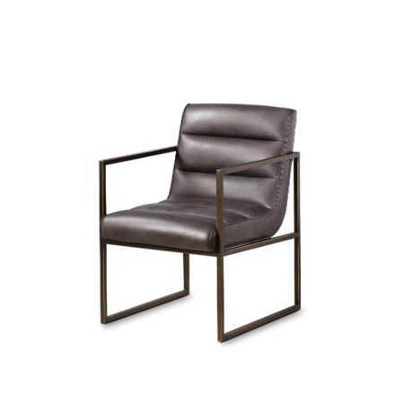 Noah Arm Chair - Saddle Brown