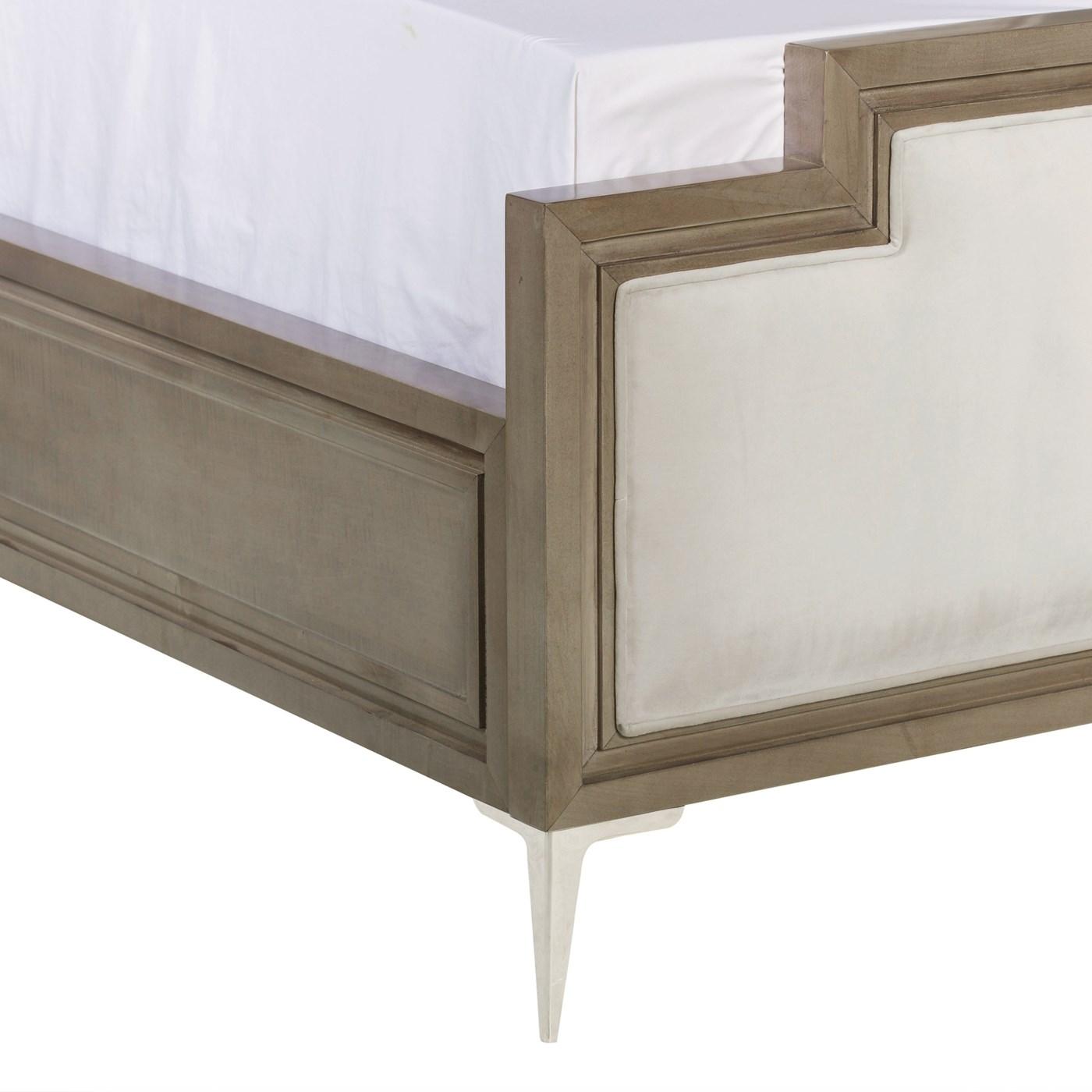 Chloe Upholstered Bed - US King / Vera Whisper