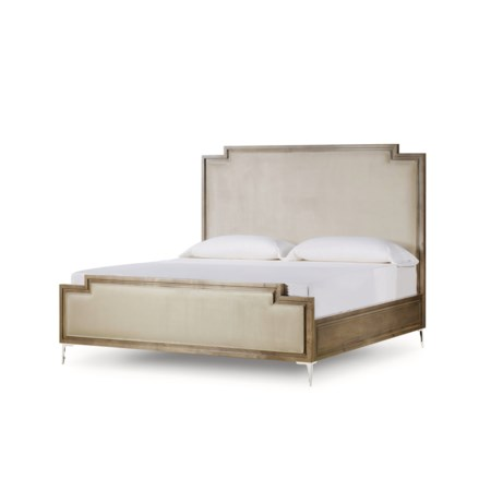 Chloe Light Upholstered Bed - US King / Vera Whisper