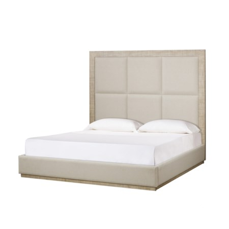 Raffles Bed - 6 Panels - US King in Norman Ivory