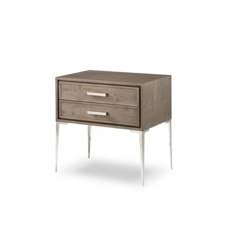 Chloe Nightstand - 2 Drawer Tall