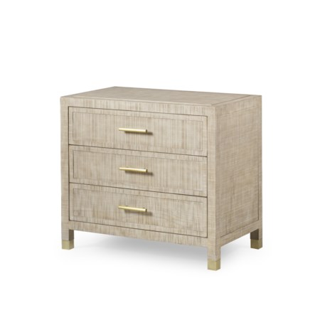 Raffles Nightstand - 3 Drawer