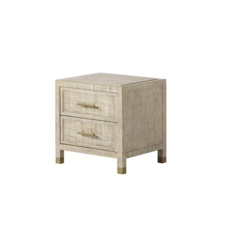 Raffles Nightstand - 2 Drawer Small