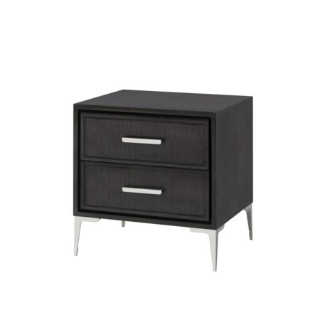 Chloe Dark Nightstand - 2 Drawer