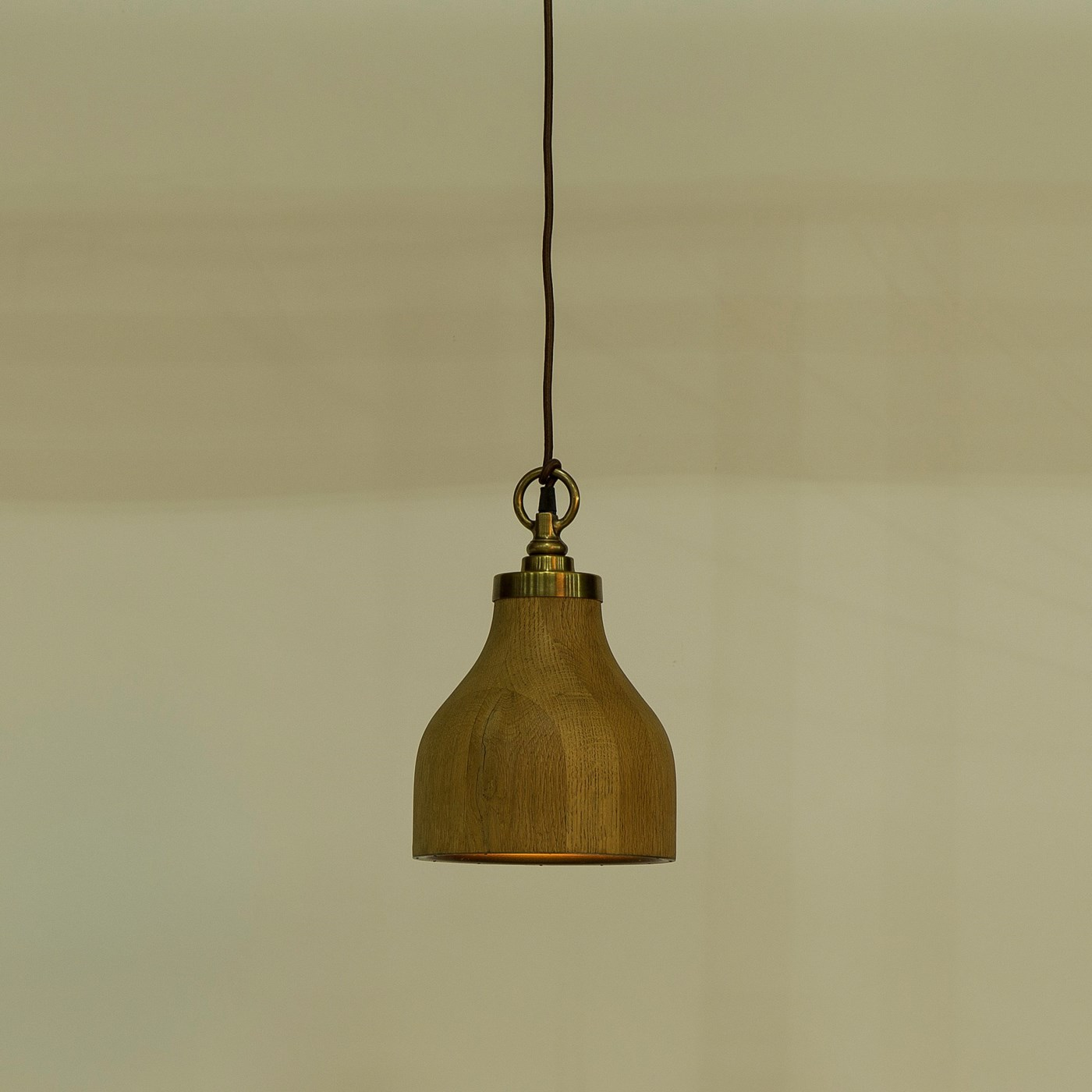 Natural Oak Pendant - Small / 120v US