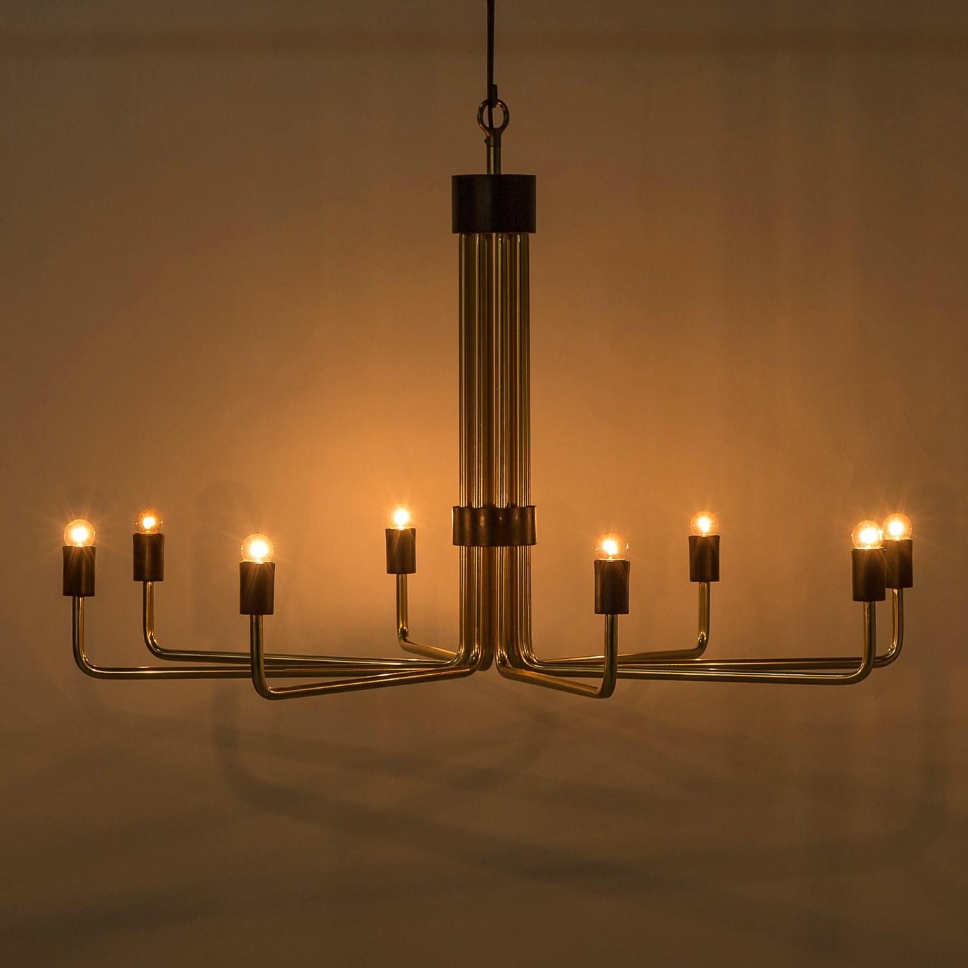 Le Marais Chandelier - 8 Light / Brass / 120v US