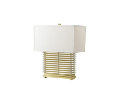 Stack Table Lamp - Brass / White Shade