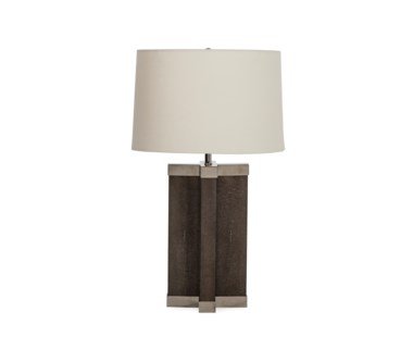 Shagreen Lamp - Grey / White Shade