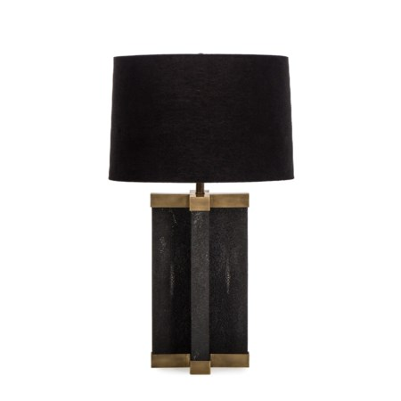 Shagreen Lamp - Black / Black Shade / 120v US