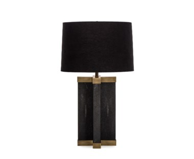 Shagreen Lamp - Black / Black Shade