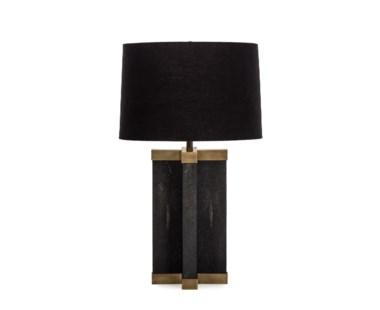 Shagreen Lamp - Black / Black Shade