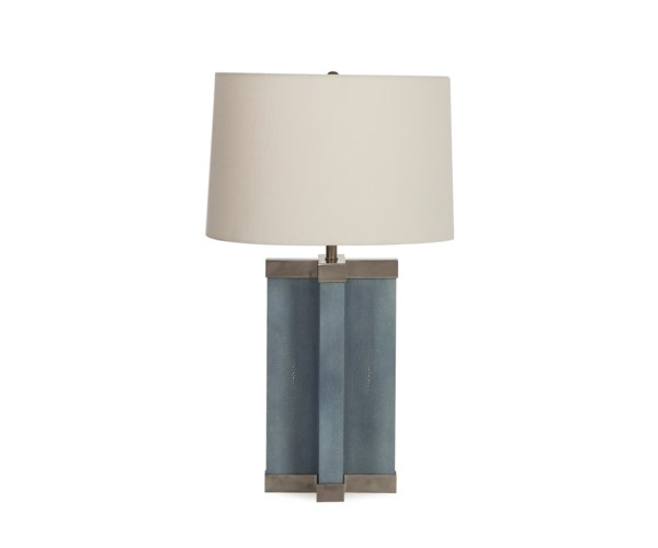 Shagreen Lamp Baby Blue White Shade Table Lamps Resource Decor