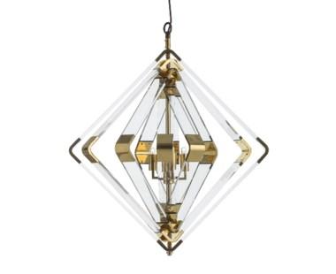 Spiral Acrylic Diamond - 5 Layer / Brass