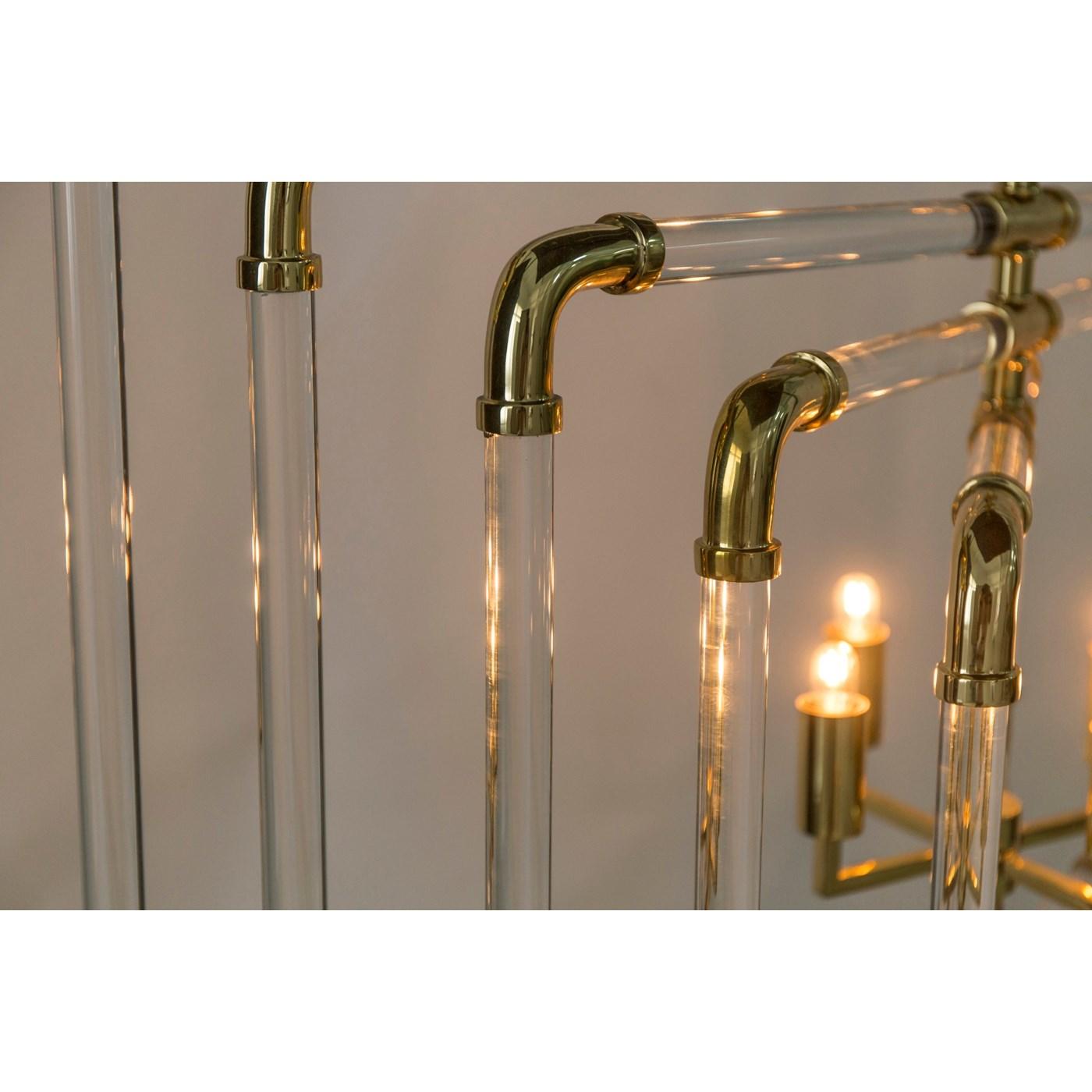 Spiral Acrylic Stream - 5 Layer / Brass / 120v US