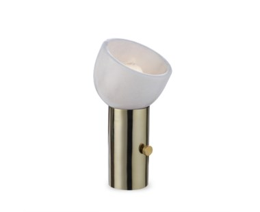 One Scoop Lamp - Brass