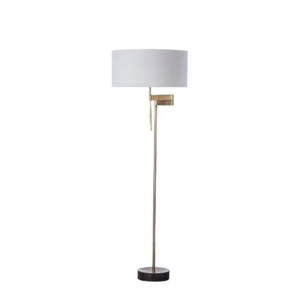 Gear Floor Swing Lamp - Burned Brass / 120v US