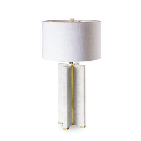 Marble Table Lamp - Cross / 120v US