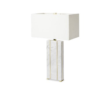Marble Table Lamp - Rectangular