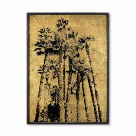 Eglomise - Santa Monica Palm Trees / Gold Leaf