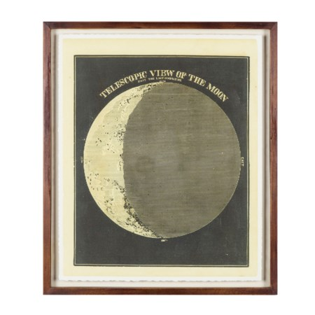 Telescopic View Of The Moon Circa 1872