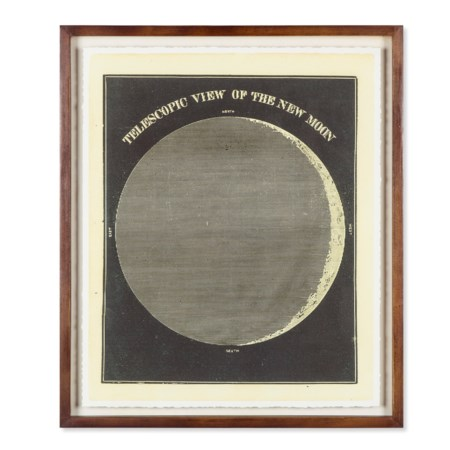 Telescopic View Of The New Moon Circa 1872