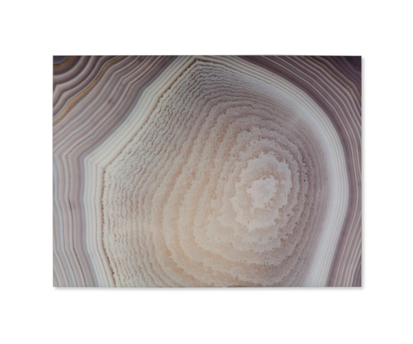 Art Print On Glass - Neutral Agate C
