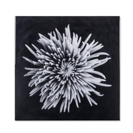 Black & White Flower - Epoxy / A
