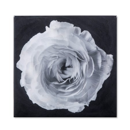 Black & White Flower - Epoxy / B
